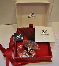 Swarovski Jewelry Red Crystal Valentine Heart Gold Tone Pendant With Necklace