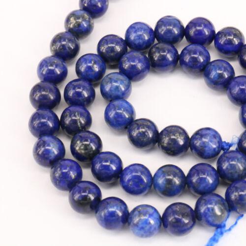 """Lotti 15/"""" Strand Lapislazzuli pietra Rotonda Distanziatore Perline Sfuse risultati fai da te 4-10MM"""