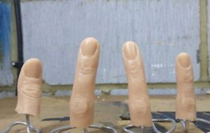 Realistic FX Movie Prop Halloween Unpainted Severed Silicone Finger Prop