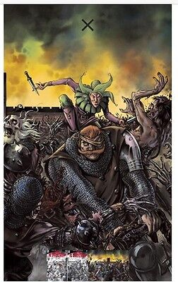 UNHOLY GRAIL #1 ROOTH CONNECTING B//W VARIANT Pestilence Aftershock 200 Print