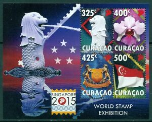CURACAO-BLOKJE-WORLD-STAMP-EXHIBITION-SINGAPORE-POSTFRIS