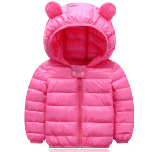 Toddler Baby Coat Kids Winter Warm  Jacket Girls Boys Outerwear 6-24M RRP £24.99