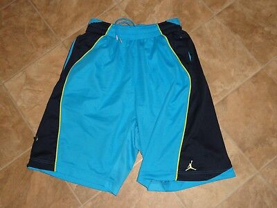 Activewear Tops Activewear Men's Jordan Dri-fit Basketball Shorts Navy/teal Size M Excellent Condition Goods Of Every Description Are Available