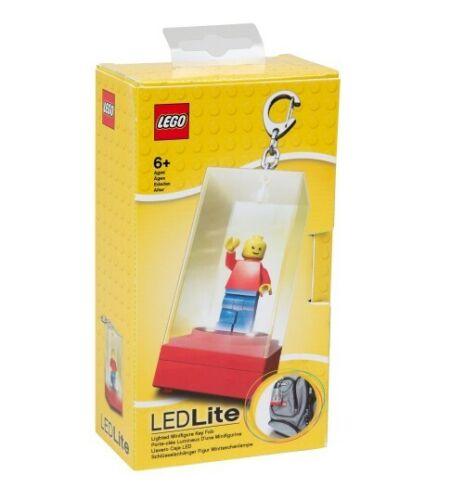 LED Lighted Minifigure Keychain Display Case LEGO Blue