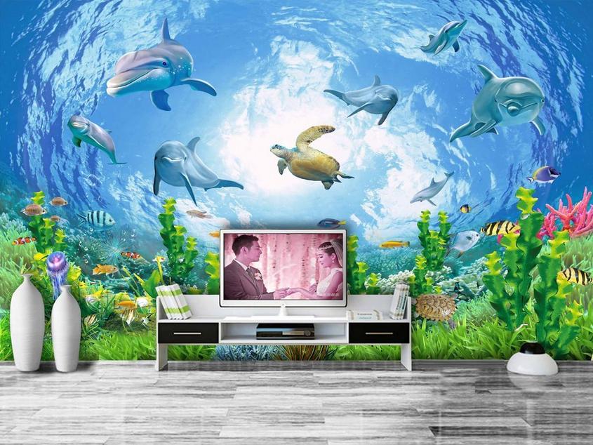 3D Schönes Aquarium 83 Tapete Wandgemälde Tapete Tapeten Bild Familie DE Summer