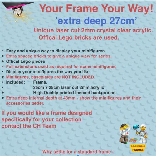 Display Frame for Lego DC Comics Series minifigures 71026 no figures 27cm