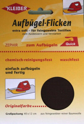 Kleiber Zephir Aufbügel Flicken 40 x12 cm Baumwolle rot