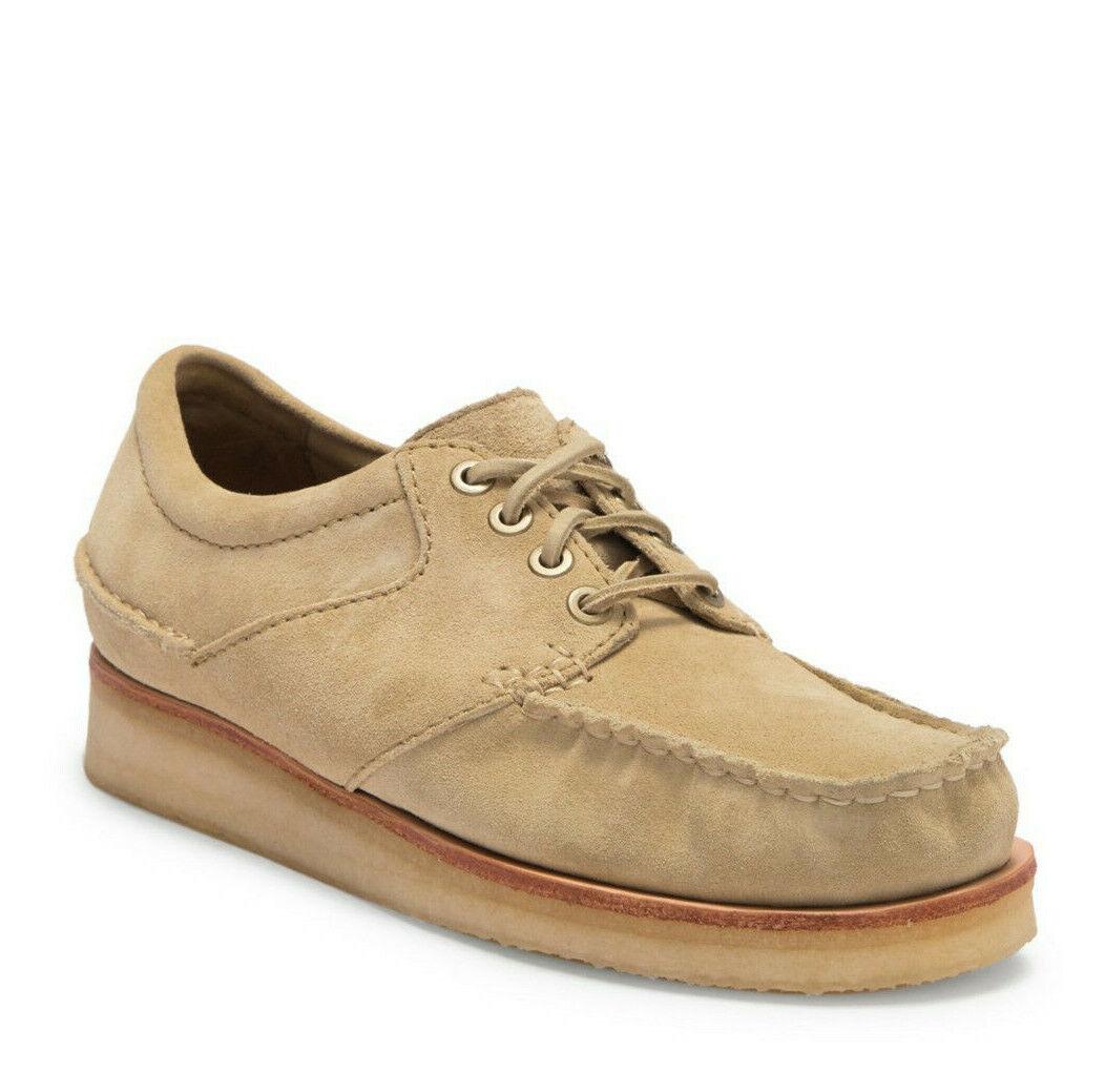 Clarks Men's Wallace US 13 M Maple Suede Moc Toe Crepe Sole Oxford shoes