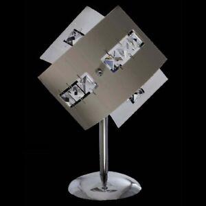Lampadario moderno da tavolo cristallo plexiglass lume for Abat jour moderne camera da letto