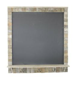 Large-Blackboard-Drift-Wood-Effect-Surround-With-Shelf-And-3-Hooks-Chalk-Board