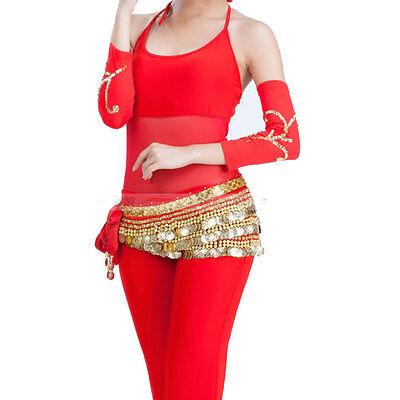 C135 ein Paar Bauchtanz Armstulpen mit golden Paillenten Orientalischer Tanz