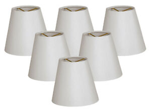 Details About Hardback Empire White Chandelier Lamp Shade Clip On