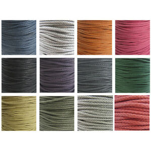 ROUND-3MM-WAXED-PLAITED-CORD-NON-ELASTICATED-STRINGING-13-COLOURS-TRIMMING