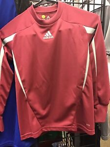 Youth Adidas Climalite Goalkeeper Long Sleeve Jersey Maroon Size ...