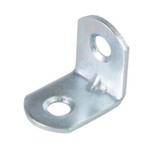 Fixman Angle Plates 28mm x 25mm x 1.0mm Zinc Plated Shelving Bracing DIY 314832