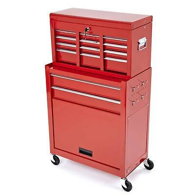 New Mechanic 8-Drawer  2-Pcs Tool Box Chest Cabinet Toolbox Castor Cart (#220)