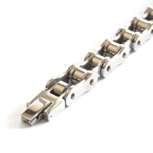 Motorradkette Edelstahl Herren Armband Bikerarmband Damen Panzerarmband 21 cm