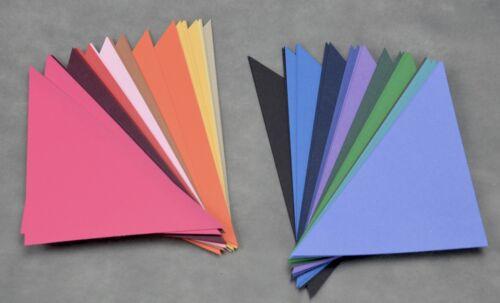 Creative Memories Collection Home Class Pre-Cut 80 Triangles MultiColor Paper