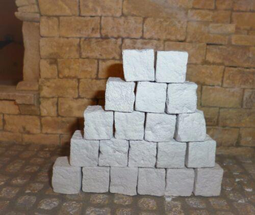 Krippenzubehör Ruinenbausteine 20St Krippenbau neues Format 1,5x1,5x1,5cm