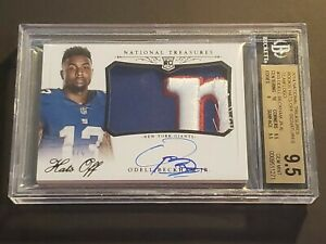 2014-National-Treasures-Hats-Off-Odell-Beckham-Jr-Auto-BGS-9-5-Rookie-Autograph