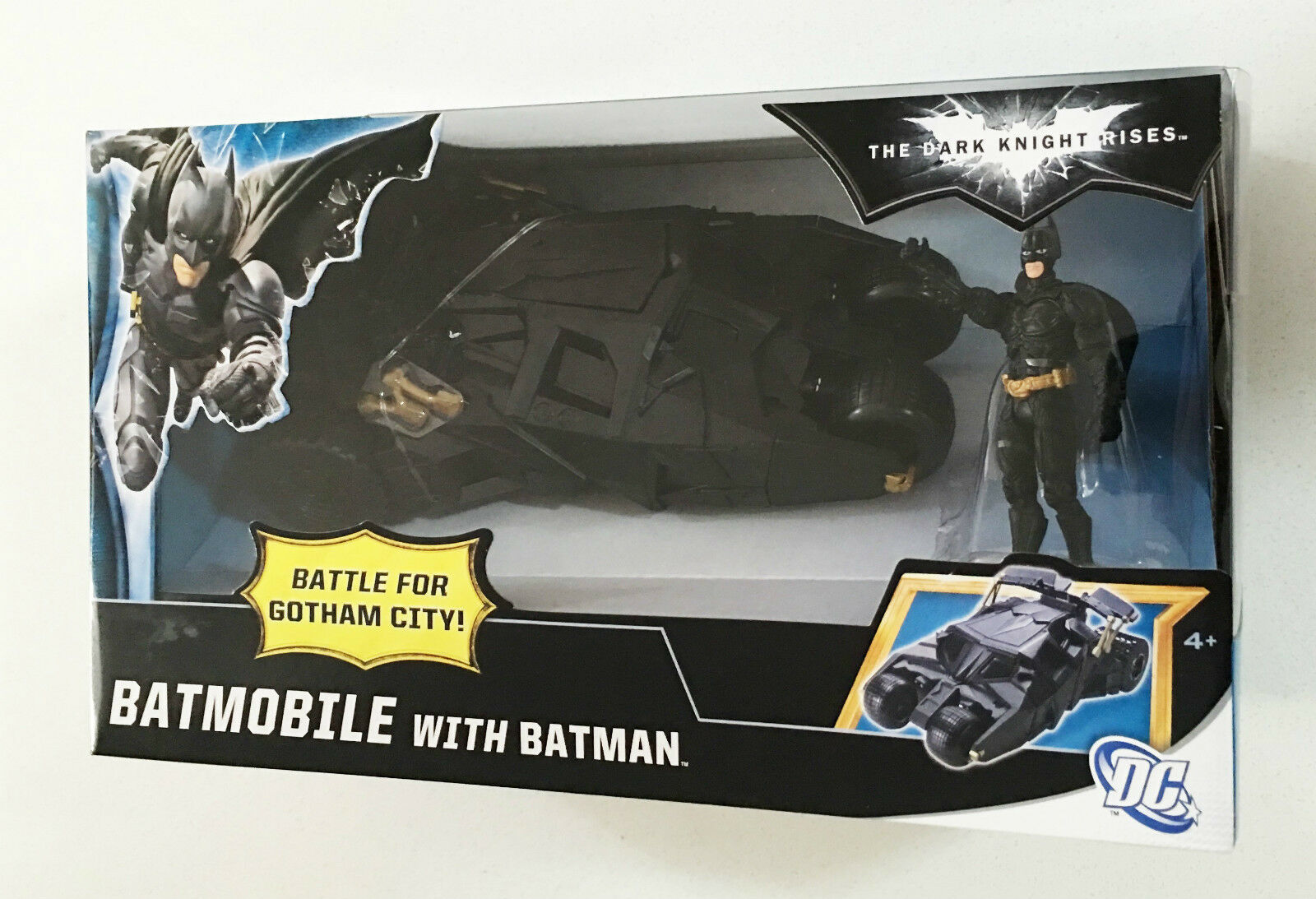 Batman Dark Knight Rises Batmobile Bike Gotham City Tumbler Ages 4+ Car Mattel