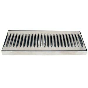 12-034-Countertop-Drip-Tray-Stainless-Steel-Catches-Draft-Beer-Spills-amp-Leaks