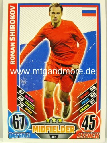 Russland #154 Roman Shirokov Match Attax Euro EM 2012