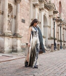 H-amp-M-CONSCIOUS-EXCLUSIVE-Maxi-Dress-Silk-Hemp-Printed-Organic-Evening-Long-Gown