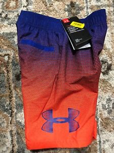 a122c239d1cd0 Under Armour Boys' Angle Drift Volley Short Size 7 Magma Orange ...