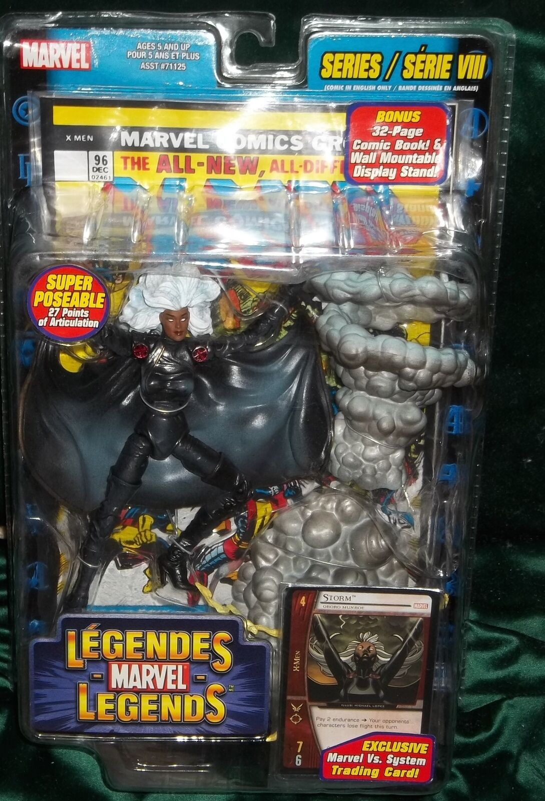 MARVEL LEGENDS X-MEN SERIES VIII STORM FIGURE W/ COMIC TOY BIZ 2004