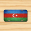 Azerbaijan Flag Baku Shaki Ganja Vehicle License Plate Front Auto Tag NEW