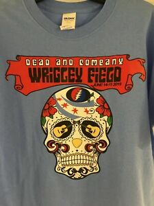 grateful dead and company concert wrigley field chicago cubs t shirt sugar skull ebay. Black Bedroom Furniture Sets. Home Design Ideas