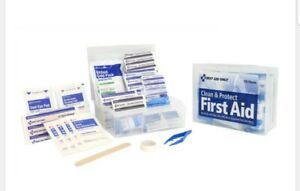 First Aid Kit, 1st Aid Essentials 175 Items Pieces. Clean & Protect NEW & SEALED