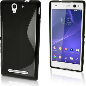 S-Line-TPU-Gel-Skin-Case-Cover-for-Sony-Xperia-C3-D2533-D2502-Screen-Protector