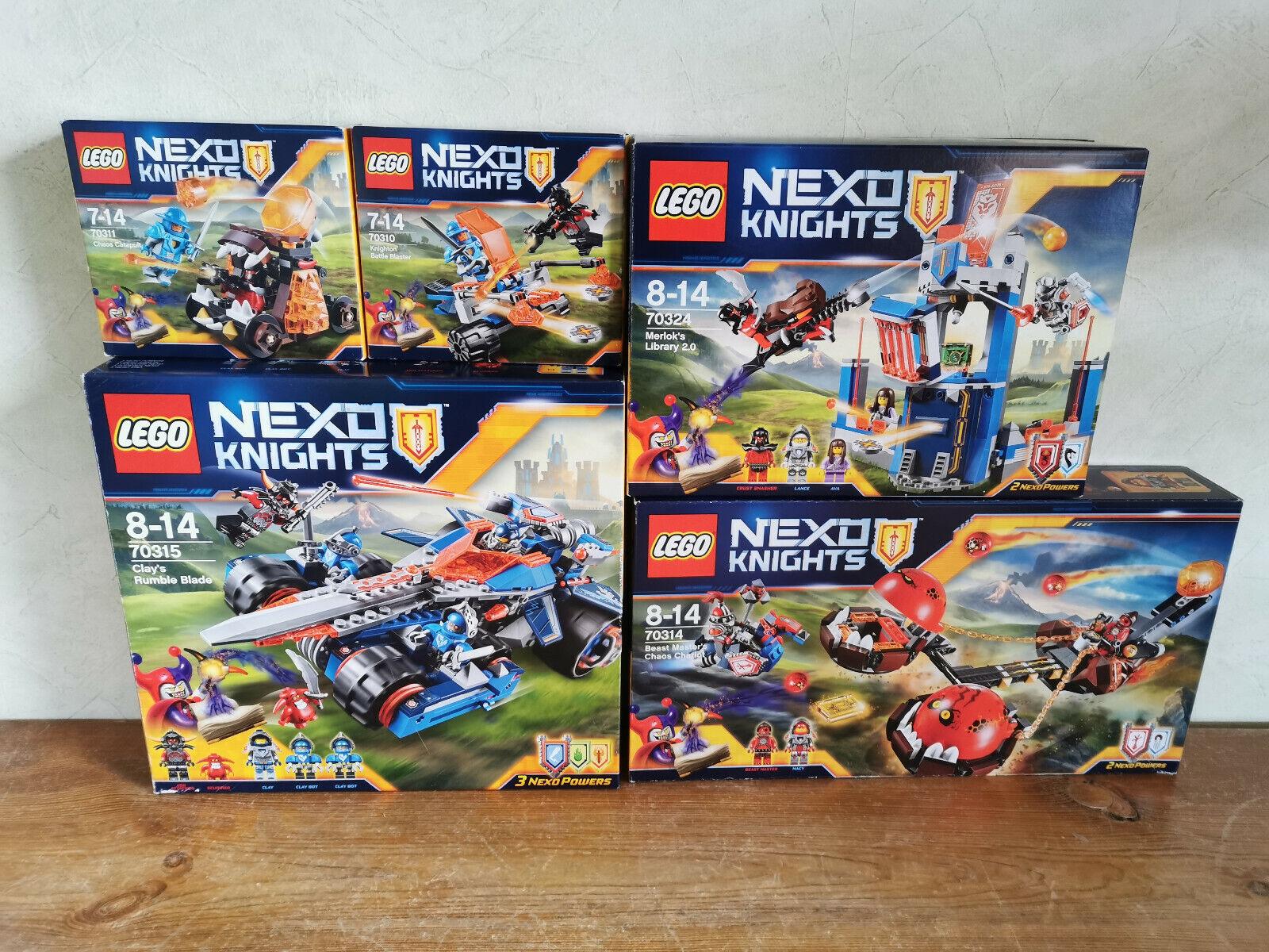 LEGO NEXO KNIGHTS  5 Sets - 70310, 70311, 70314, 70314, 70324