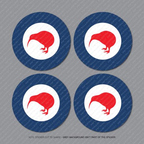 4 x New Zealand Air Force Aircraft Roundels Vinyl Stickers Deal 75mm - SKU2970