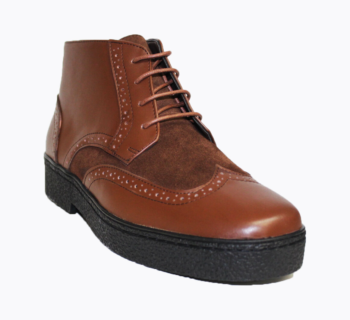 British Style - Playboy WingTip Mens Leather shoes  Brown 5613