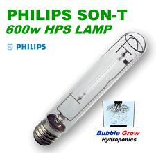 PHILIPS 600W SON-T AGRO HPS HIGH PRESSURE SODIUM WATTS LAMP LIGHT GLOBE
