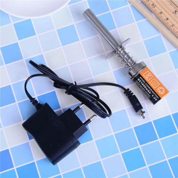 1.2 V 1800mah Rechargeable Glow Plug Starter Igniter Ac Charger For Gas Nitro Ml