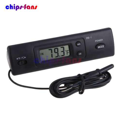 Digital Thermometer Auto LCD Display In Out Clock for Car Home Vehicle New