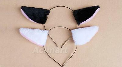 Animal Cosplay Fluffy Fox Ear Headband Christmas Halloween Fancy Dress Costume