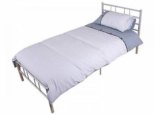 New morgan 3ft single silver metal bed frame bedstead high for Good quality single beds