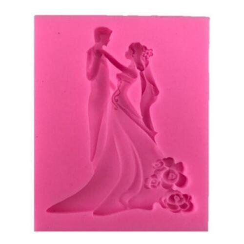 3D Bride /& Groom Wedding Silicone Fondant Cake Decoration Chocolate Baking Mould