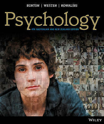 1 of 1 - NEW -- 3 DAYS TO AUS -- Psychology by Burton, Westen (4 Ed + iStudy CODE)