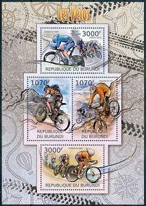 BURUNDI 2012 MNH 4v SS, Cycling Sports