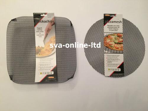 2PK QUICKA CHIP /& PIZZA MESH OVEN TRAY BASKET FOR CRISPER CHIPS /& PIZZA BASES
