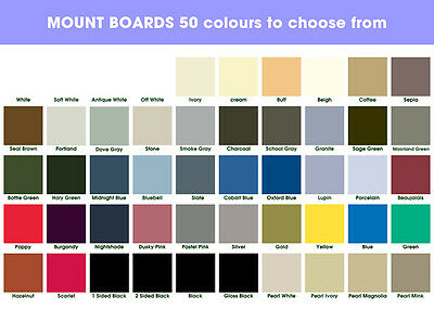 A1 Mount Boards 50 Colours To Choose From - Mix Any Colours -