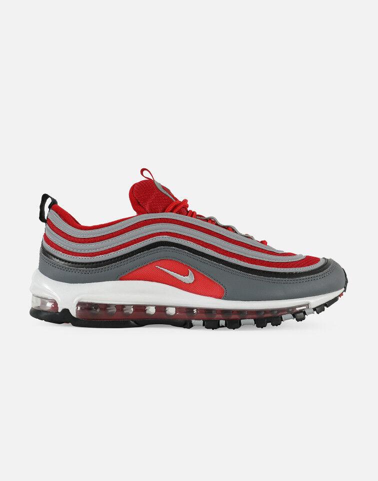 Nike Air Max 97 DARK GREY/WOLF 5Y GREY-GYM RED-WHITE  Sz: 5Y GREY/WOLF & 7Y b46089