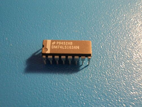 NATIONAL DM74LS163AN BINARY SYNCHRONOUS COUNTER QTY = 1