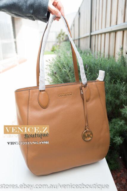 23c34a0da4f8 BNWT MICHAEL KORS ANI Large Leather Shoulder Bag Handbag Satchel Tote Acorn